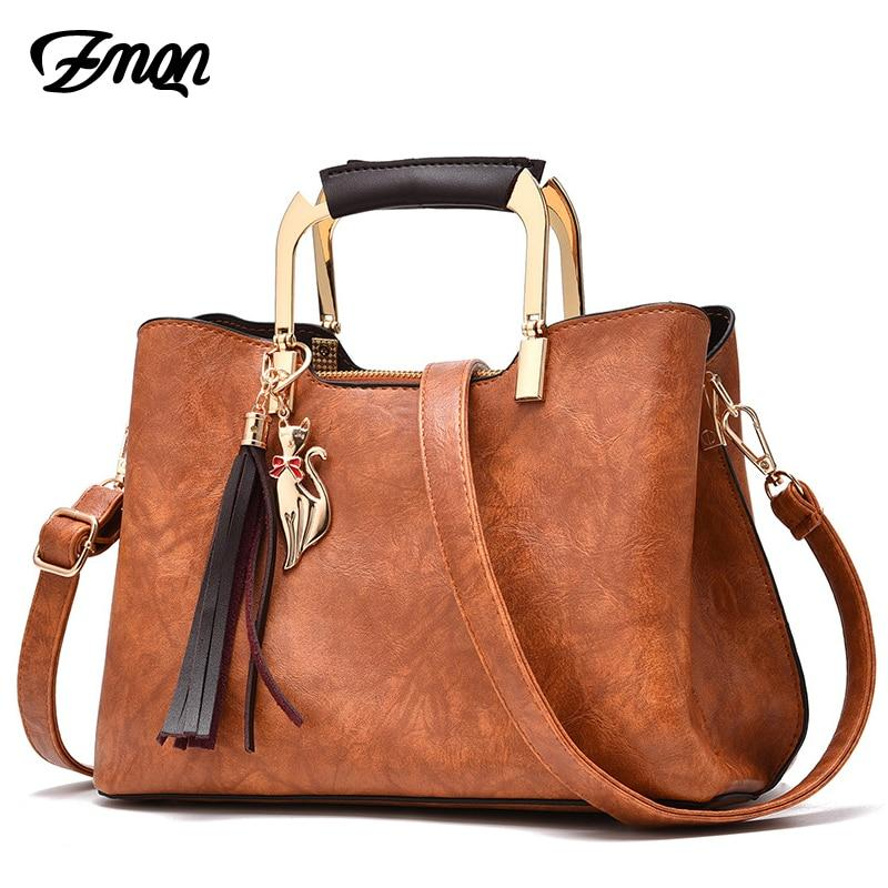 ZMQN Women Kabelka Bags Retro Vintage Small Handbags 3 Layers Women Messenger Bag Leather Metal Handle Side Bag Tassel 2018 C904-ivroe