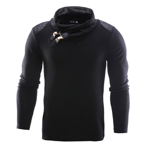 2018 New Spring Autumn Fashion Brand Casual Sweater O-Neck Spliced Slim Fit Knitting Mens Sweaters Pullovers Men Pullover M-2XL-ivroe