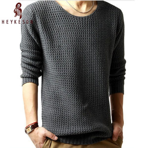 HEYKESON Sweater Pullover Men 2018 Male Brand Casual Slim Sweaters Men High Quality Hedging O-Neck Men'S Sweater Oversize 4XL-ivroe