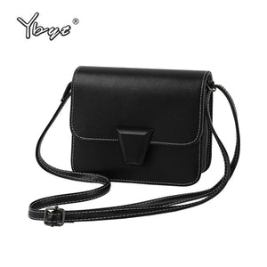 YBYT brand 2018 new simple casual black women flap ladies cell phone coin purses candy color shoulder messenger crossbody bags-ivroe