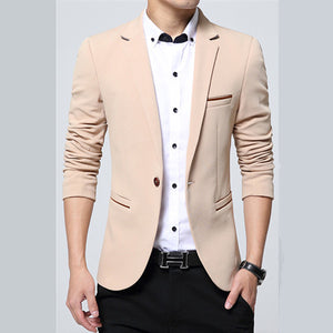 2018 spring autumn new men's business causal suit / Men's long sleeve pure color suit blazers jacket coat-ivroe