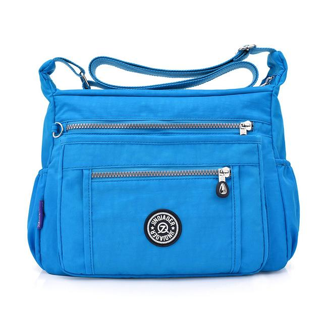 Women Messenger Bags Handbags Femal Famous Brand Bolsa Top-handle Shoulder Beach Purse Solid Nylon Zipper Sac Crossbody Bags-ivroe