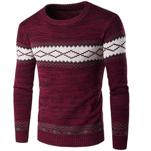 T-bird 2017 New Brand Fashion Autumn Mens Sweaters High Quality Christmas Sweater Dress Cusual Male Pullovers Knitwear Tops XXL-ivroe