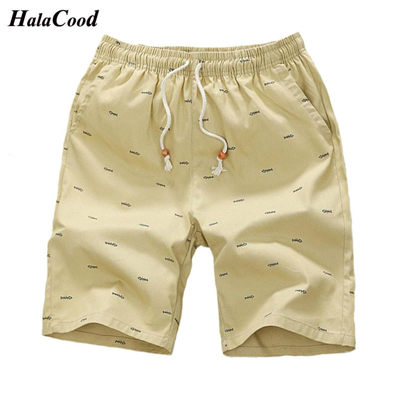 2018 New Arrival Men Shorts Cotton Casual Shorts For Men Elastic Waist Summer Beach Shorts Personalized Printed High Quality 5XL-ivroe
