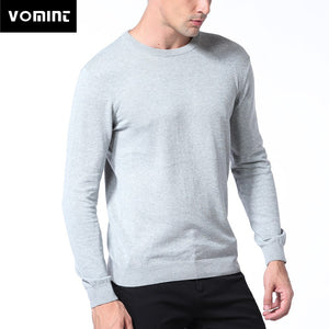 Vomint Spring Basic Mens Sweater Pullovers Solid O-neck Knitted Cotton Fabric All Match Wear Multi Color Regular Fit U6PI6833-ivroe