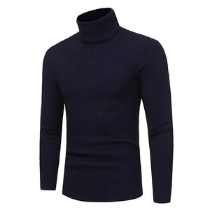 Sweater Pullover Men 2017 Male Brand Casual Solid-Color Knitt Simple Sweaters Men Comfortable Hedging Turtleneck Men'S Sweater-ivroe