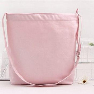 Eco Reusable Women's canvas handbags 2018 high quality shoulder bag for women lady bags Literary handbag ladies Besace 7 colors-ivroe