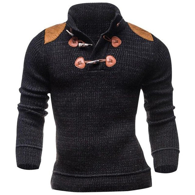 Huation Brand Pull Men Sweater Coat korea Winter Warm Sweater Casual Black Knitted Pullovers Slim Fit Sweaters sueter hombre-ivroe