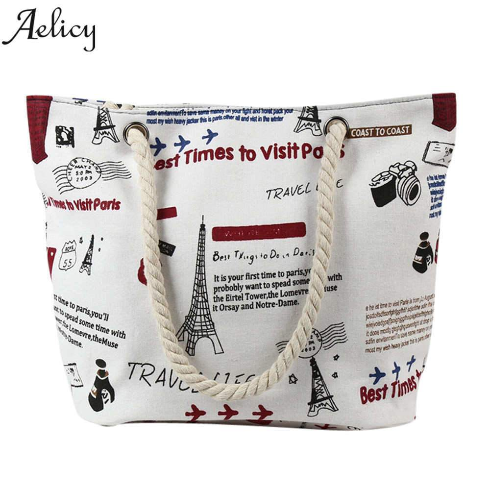 Aelicy 2018 New Fashion Casual Beach Bags Women Summer 2018 Shoulder Bags Female Purse and Handbags Vintage bolsa feminina-ivroe