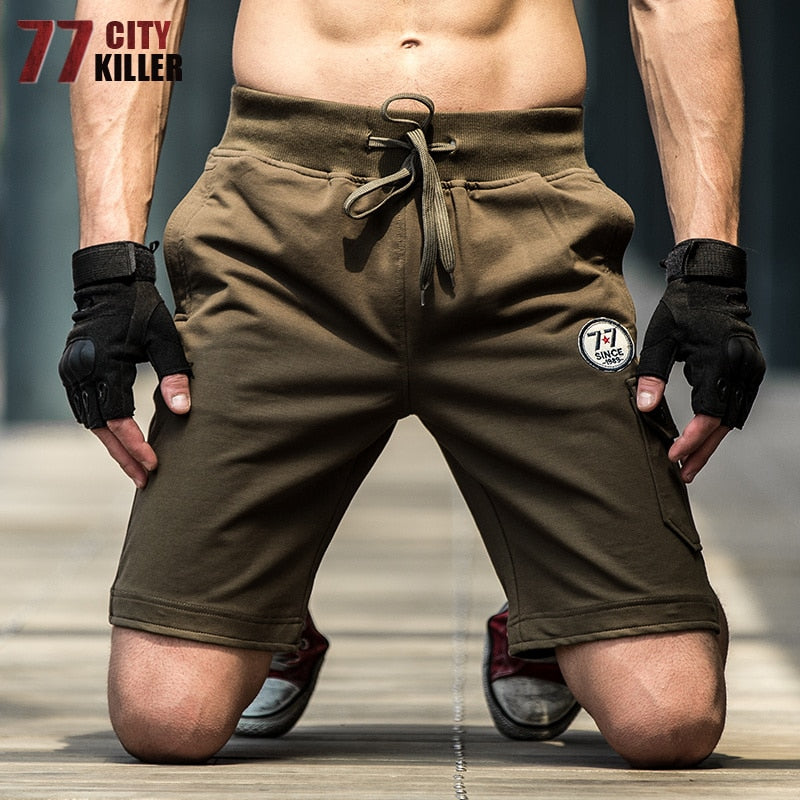 77City Killer Summer Summer Military Casual Man's Shorts Handsome Fashion Men drying Beach Shorts solid Popular Military Shorts-ivroe