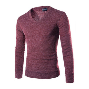 2018 New Autumn Fashion Brand Casual Sweater V-Neck Striped Slim Fit Knitting Mens Sweaters And Pullovers Men Pullover Male M-XX-ivroe