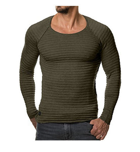 UniqStore2018 Spring Men Pullover Knitted Sweater Fashion O-neck Casual Long Sleeve Warm Elastic Fit Male Sweaters 2XL Hombre-ivroe