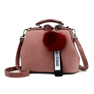2018 New Vintage Tassel Doctor Handbag Women Messenger Bags Solid Color PU Leather Crossbody Shoulder Bags Top-handle Sac A Main-ivroe