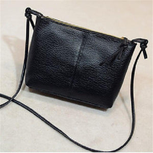 2018 fashion casual zipper shoulder bag flap cross-body bag small vintage women's handbag soft pu leather women messenger bags-ivroe