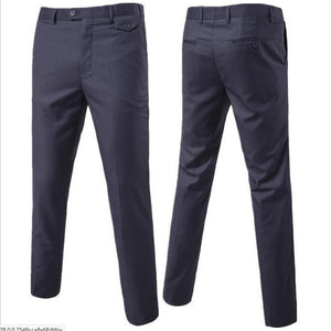 2017 slim fit Summer Business men formal suit pants wedding bridegroom trousers S-6XL 9 color High quality trousers-ivroe