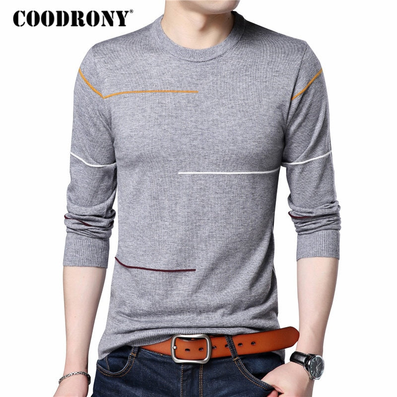 COODRONY Cashmere Wool Sweater Men Brand Clothing 2018 Autumn Winter New Arrival Slim Warm Sweaters O-Neck Pullover Men Top 7137-ivroe