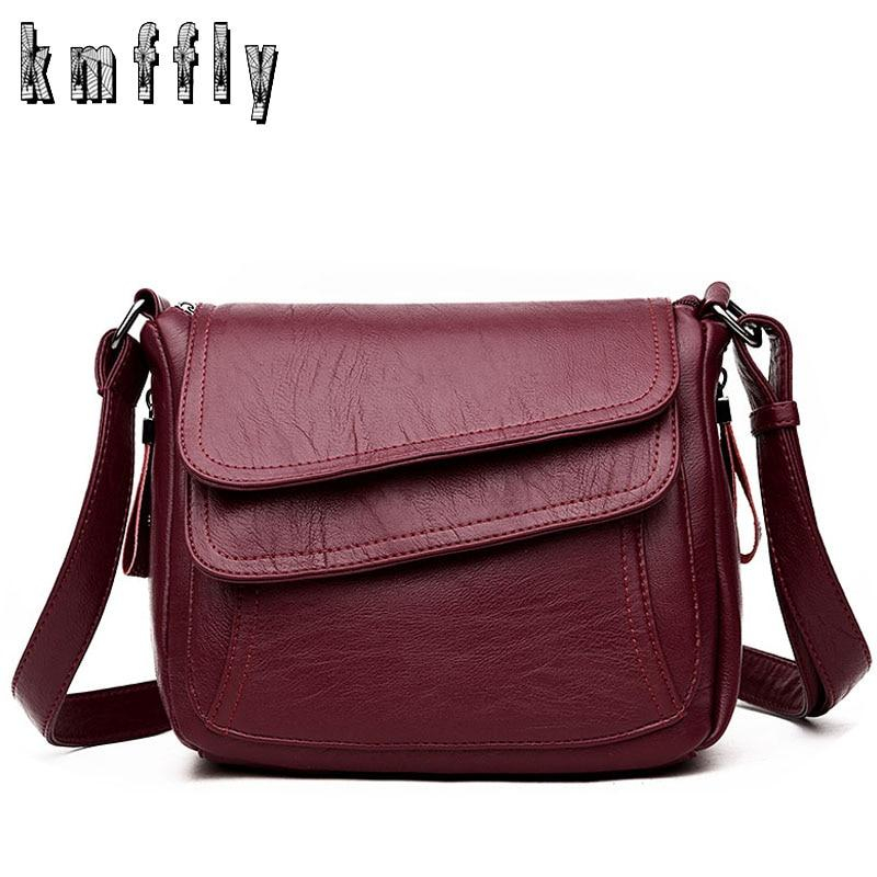 KMFFLY Luxury Women Messenger Bags Designer Woman Bag 2018 Famous Brand Leather Small Shoulder Bags Tote Bag sac a main femme-ivroe