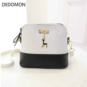hot Women's Handbags Fashion Shell Bag Leather Women Messenger Bags Girls for Shoulder Bags Decorative Deer Branded Bag-ivroe