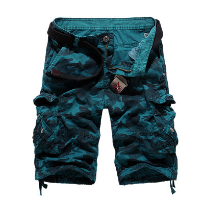 2018 New Camouflage Loose Cargo Shorts Men Cool Summer Military Camo Short Pants Hot Sale Homme Cargo Shorts No belt-ivroe