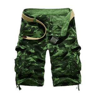 US Size 2018 New Camouflage Loose Cargo Shorts Men Cool Summer Military Camo Short Pants Homme Cargo Shorts-ivroe