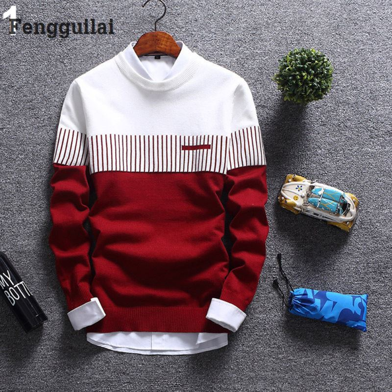 New Korean Fashion Cardigan Sweater Jumper Men Knit Pullover Coat Long Sleeve Sweater-ivroe