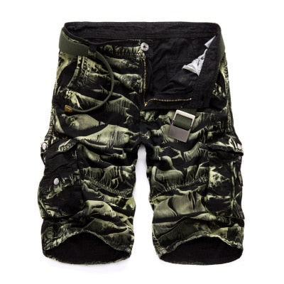 Military Cargo Shorts Men Summer Camouflage Pure Cotton Brand Clothing Comfortable Men Tactical Camo Cargo Shorts-ivroe