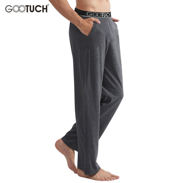 Men's Modal Pajamas Pants Comfortable Male Long Johns Man See Through Sleep Bottoms 5XL 6XL Everyday Cuecas Underwear G-3007-ivroe