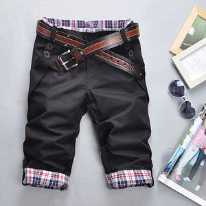 Stylish Bermuda Masculina Loose Cargo Shorts Men 2018 Summer Color matching Beach Casual Cotton Capris Short Pants size M-XXXL-ivroe