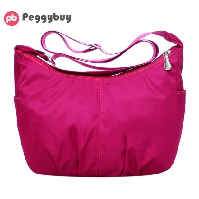 2018 Large Capacity Women Waterproof Nylon Warm Handbag Mummy Casual Tote Fashion Fold Over Bag Femme Bolsos Mother Diaper Bag-ivroe