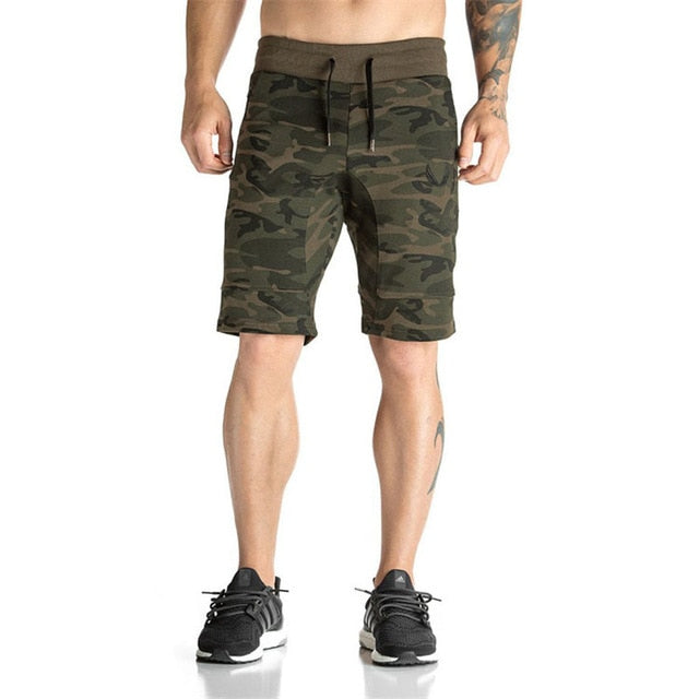 Cheap Sales 2018 Summer New fashion men's Shorts polyester military camouflage Men casual Shorts solid color beach Free shipping-ivroe