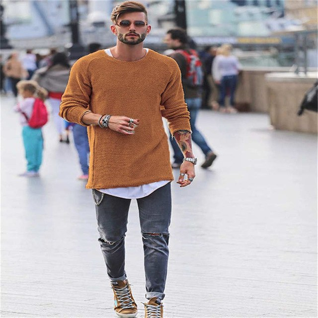 Mens Sweaters 2018 Autumn Winter New Sweater Men O Neck Solid Slim 100% Cotton Fit Men Pullovers Fashion Male Polo Sweater-ivroe