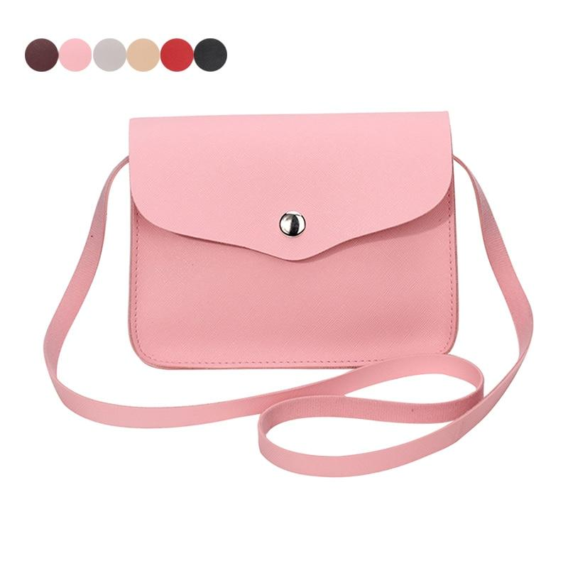 Fashion Women Candy Color Shoulder Bag Leather Purse Adjustable Strap Summer Ladies Girl Causal Messenger Crossbody Bags LT88-ivroe
