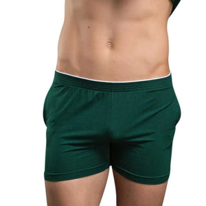 Men's Solid Color Cashal Modal Shorts Soft Comfortable Home Pajamas Male Shorts Slowly Enjoy Life-ivroe