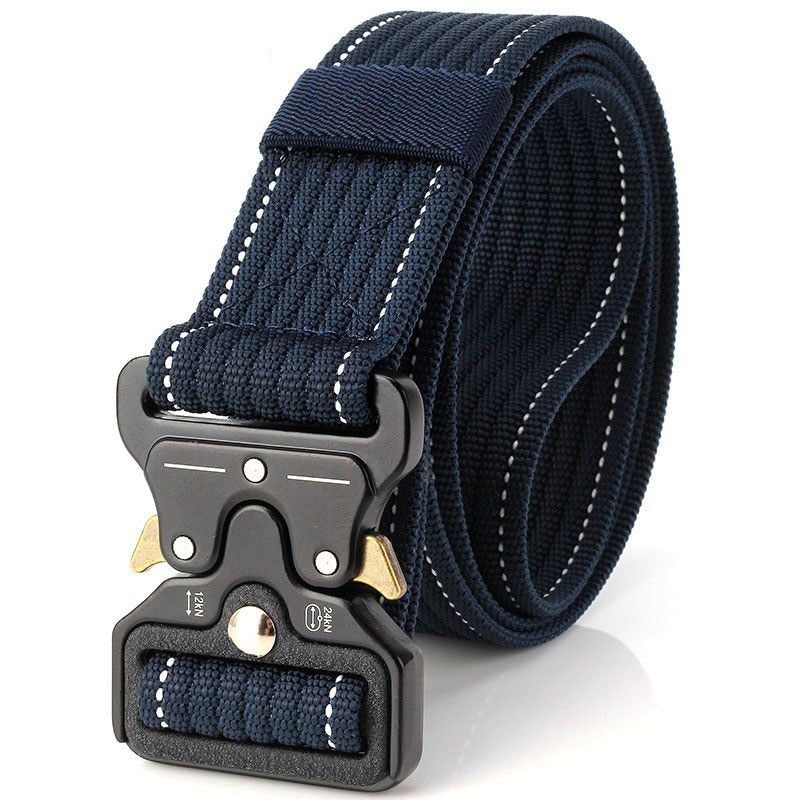 New Cobra Buckle Tactical Belt 3.5cm High Quality Nylon 120cm Casual Canvas Belt For Men And Women Military Training Belt B3E2-ivroe