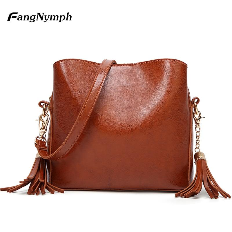 FangNymph Brand Lady Handbags 2018 Fashion Trends Women Quilted Leather Handbag Purses Vintage Lady Hand Bag Cute Messenger Bag-ivroe
