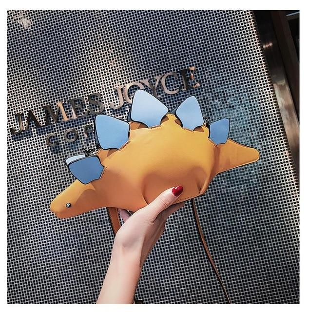 Pesonality Style Bag dinosaur crossbody bag color block creative handbag women's unique exclusive clutch fun purse best gift-ivroe