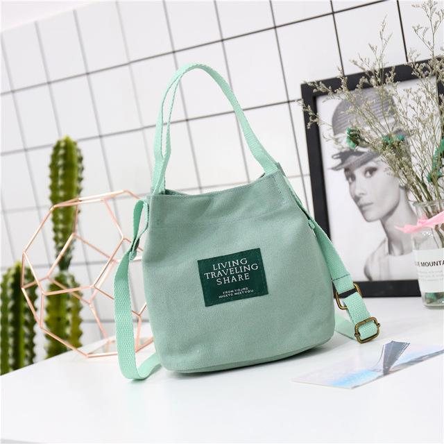 2018 New Arrival Environmental Protection Shoulder Bags MINI IPhone Canvas Handbags Small MINI Tote Messenger Shopping Bags-ivroe
