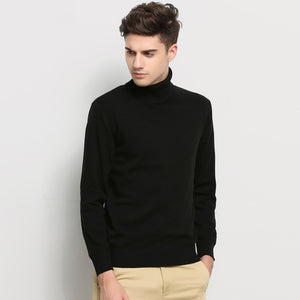 Hot 2018 New Autumn Winter Brand Clothing Sweater Men Turtleneck Slim Fit Winter Pullover Men Solid Color Knitted Sweater Men-ivroe