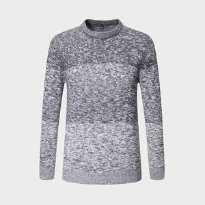 New Autumn Winter Brand Clothing Sweater Men Fashion Trend O-Neck Slim Fit Winter Pullover Men 100% Cotton Knitted Sweater Men-ivroe
