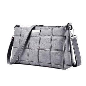 Women Plaid Messenger Bags Sac a Main PU Leather Shoulder Bags Women Crossbody Bag Ladies Designer High Quality Handbags-ivroe