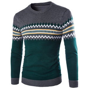 2018 New Autumn Winter Round Neck Pullover Men Slim Fit Knitted Sweater Pull Homme Jersey Hombre Mens Sweaters Fall Knitwear-ivroe