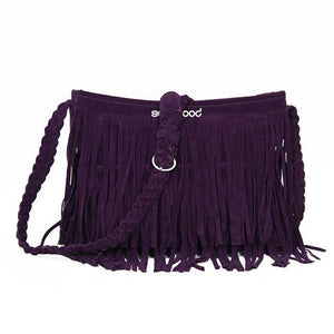 Hot New Women's Fashion Fringe Tassel Shoulder Messenger Cross Body Satchel Bag Handbag-ivroe