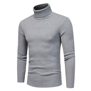 2018 New Winter and Winter Men's Fashion Boutique Solid Casual Turtleneck Sweater Korean Version Men's Turtleneck Sweater Male-ivroe