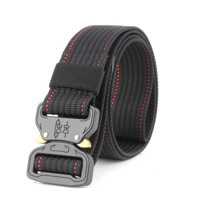 New Cobra Buckle Tactical Belt 3.5cm High Quality Nylon 125cm Casual Braided Belt For Men And Women Military Training Belt H3E5-ivroe