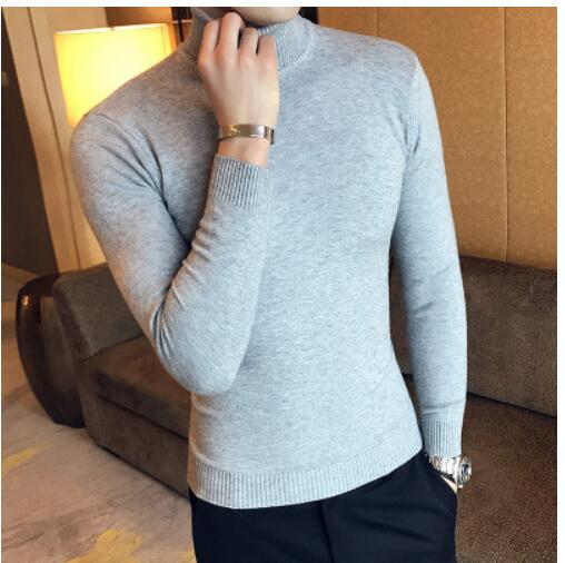 Loldeal 2018 Mens white Sweaters and Pullovers Men Turtle Neck Brand Sweater Male Outerwear Jumper Knitted Turtleneck Sweaters-ivroe
