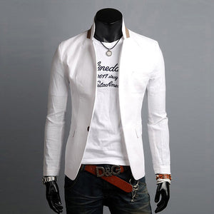 Linen Men Jacket Suit Veston Homme Veste Complete Suit Male European Slim Fit Casual Single Button Blazer Jacket Traje Hombre-ivroe