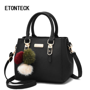 ETONTECK brand women hairball ornaments totes solid sequined handbag hotsale party purse lady messenger crossbody shoulder bags-ivroe