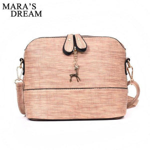 Mara's Dream 2018 Deer Shell Women Messenger Bags PU Leather Fashion Lady Crossbody Mini Bag Women Shoulder Bags Drop Shipping-ivroe