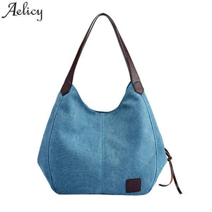 Aelicy 2018 Hot New Fashion Light High Quality Women Canvas Handbags Vintage High Quality Female Hobos Single Shoulder Bags-ivroe