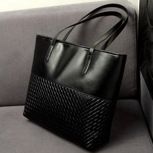 JIARUO Large Plaid Embossed Women Handbags Leather Criss-cross Shoulder Bag Ladies Casual Tote Large Capacity Top-Handle Bolsa-ivroe